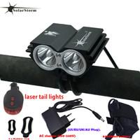 Güçlü LED Lamba X2 XM-L T6 LED Şarj Edilebilir Su Geçirmez 5000 Lümen Işık Siyah Bisiklet Dağ Bisikleti Işık + Kuyruk Işık + Şarj B