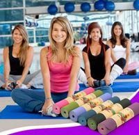 Mujeres extra gruesa de alta densidad favor del medio ambiente Yoga Pilates Calchotenas TPE antideslizante insípido embarazada Yoga Mat Mujeres FY6017