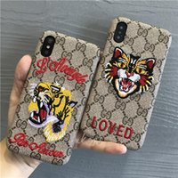 Deluxe 3D Stickerei Tiger Anti-Skock Handyhülle für iPhone X XS MAX XR 8 7 6 6s Plus harte TPU Hülle für iPhone8 8plus 7plus 6plus