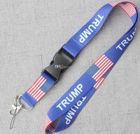 nuovo arriva TRUMP U.S.A rimovibile Bandiera degli Stati Uniti catene chiave del regalo del distintivo del partito Pendente moble cordicella del telefono