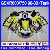 الجسم + خزان للSUZUKI SRAD الأزرق HOT جديدة GSXR 750 600 GSXR600 96 97 98 99 00 291HM.14 GSXR600 GSXR750 1996 1997 1998 1999 2000 Fairings لل