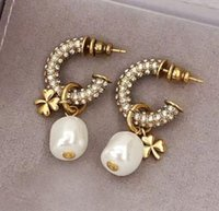 hot selling pearl drop earring italien baroque earrings high brand jewelry vintage chic jewelry free shipping
