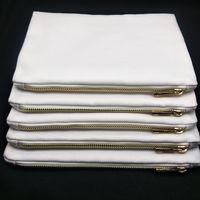 Sacchetto cosmetico in polietilene bianco bianco 1pz 12oz per stampa a sublimazione con sacchetto regalo per damigella d'onore per stampa a trasferimento termico sublime