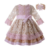 Pettigirl Pink Flower Girl Dress With Carved Hollow Design L...