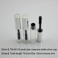 500pcs lot, Free Shipping, shiny silver cap mascara tube 4ml...