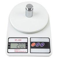 Commerci all'ingrosso 10KG / 1g della cucina posta a cristalli liquidi Digital Scala Bianco