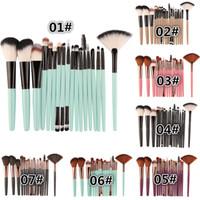 MAANGE 18Pcs Set di pennelli per trucco di bellezza Fondotinta cosmetico in polvere Fard Ombretto Miscela di labbra Trucco Kit di strumenti pennello Maquiagem
