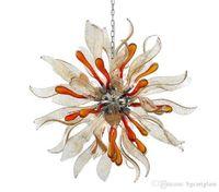 LED 꽃 펜던트 조명 램프 수제 불어 유리 샹들리에 가벼운 터키 모자이크 램프 샹들리에 티파니 조명