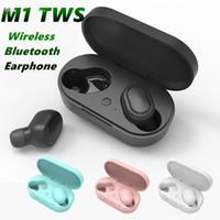 M1 سماعات بلوتوث لاسلكية سماعة 5.0 سماعة 3D ستيريو ميني سماعة إلغاء الضوضاء سماعات سماعة مع مربع التجزئة MQ50