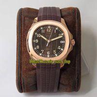 ZFF 2021 Версия версии 5167R-001 Коричневый циферблат Cal.324 SC Automatic 5167 мужские часы Sapphire 18K розовый золотой чехол резиновые спортивные часы вечности