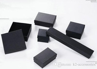 높은 아카이브 블랙 크래프트 쥬얼리 포장 팔찌 목걸이 반지 귀 못 박스 크리스마스 쥬얼리 선물 상자 6 크기