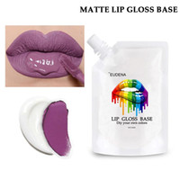 Brillo de labios de bricolaje, crema de base de gel, lápiz labial hidratante, mate vers contra labios de labios de lápiz labial de lápiz labial líquido Material de maquillaje 40ml