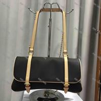 2020 Mode Leder und PVC Damen Umhängetasche Diagonale Tasche Klassischer Brief Blume Design Element Tragbare Brieftasche