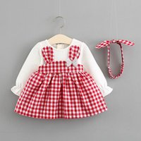 Newborn Infant Baby Girls Princess Dress 2PCS Long Sleeve Ca...