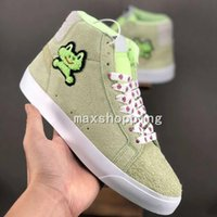 New Frog Skateboards X SB Blazer Mid QS Sports Shoes Frog Li...