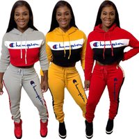 Womens Tracksuit two piece set outfits long sleeves hoodie l...