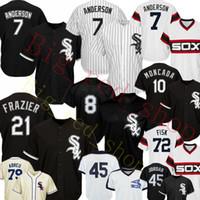 7 Tim Anderson Jersey 10 Yoan Moncada 8 BO JACKSON 45 MICHAEL 79 JOSE ABREU 35 Frank Baseball Jerseys