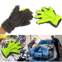 Towel Car Auto Detailing Fine Wool Chenille Finger Gloves Mi...