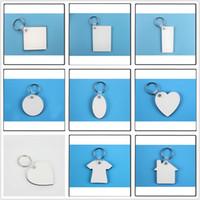 MDF leere Schlüsselanhänger für Sublimation MDF Herz Runde Liebe Schlüsselanhänger Schmuck Thermotransferdruck DIY leere Material Verbrauchsmaterialien