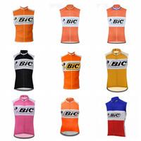 BIC Team Cycling Stickey Jersey Gilet Gilet Uomo Abbigliamento per biciclette senza maniche traspiranti Traspirante MTB Bike Bike Cycling H040714