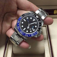 Роскошные часы высокого качества, II черный синий циферблат браслет из нержавеющей стали Мужские часы 116710 Автоматическая Мужские часы