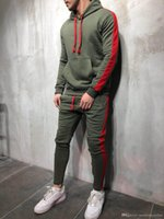 Mens Muscle Brother Tracksuits Spring Sports Athletic Hoodie...