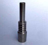 DHL 10 milímetros Titanium Tips Titanium prego Male Joint Micro NC Kits invertido Nails Comprimento 40 milímetros Ti unhas Dicas vs quartzo pontas de cerâmica