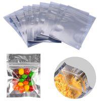 100pcs mucho resellable con cremallera bolsa de Mylar de almacenamiento de alimentos de papel de aluminio Bolsas Olor Prueba bolsas 6 7 * 10 cm * 13cm * 11cm 8 Bolsas de almacenamiento