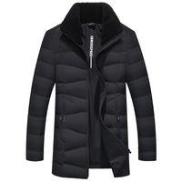 Sıcak Giysiler doudoune homme M-3XL Kalınlaştır Erkek Kış Ceket Casual Kuzu Saç Yaka Yuvarlama Aşağı Ceket Moda Casual Dış Giyim