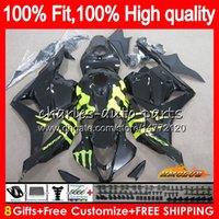Iniezione per Honda CBR 600 RR 600cc fabbrica nero 2009 2010 2011 2012 74NO.49 CBR600 RR CBR 600RR 600F5 CBR600RR F5 09 10 11 12 OEM carenatura