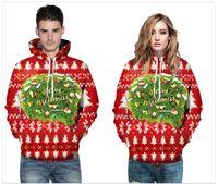 2019 impressão 3D digital de Natal grandes hoodies de designer europeus e americanos soltos do casal camisola com capuz moda terno outono WGWY195