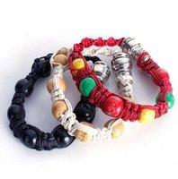 Pulseira cachimbo metais portátil Bead pulseira Smoking Pipes Pipes Handmade pulseira de homens / mulheres presentes frescos Knot Rope GGA3345