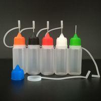 Prezzo di fabbrica 10ml (1/3 oz) Bottiglie da incasso in plastica con tappi di ago Punte sicure LDPE per E CIG CE4 PRYANK VAPOR VAPE liquido