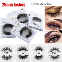 5D Ciglia finte Morbido Visone Capelli 25mm Full Strip Lashes Wispy Fluffy Long Lashes Eye Makeup Tools Handmade Extension Lashes