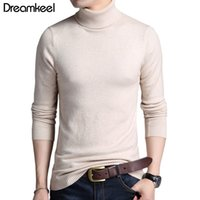 Solid Color Pullover Winter Mens Turtle Neck Brand Sweater M...