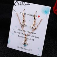 Casamento cúbico zircão jóia conjunto 16 estilos dançarino menina coruja estrela charme cristal gota de água pingente colares brinhos conjuntos shininy zircon