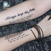 Водонепроницаемая Английский алфавит стикер татуировки Personality 3D татуировки наклейки Мода Временные татуировки QC809