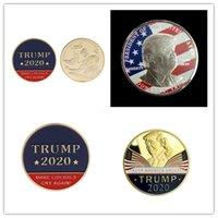 Paquete de 2020 Donald Trump recuerdo moneda del dólar Hacer una América grande otra vez Letter Figuras monedas Crafts EE.UU. Elección General Favores E3409