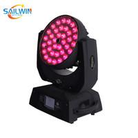 Sailwin Lyre 36 * 18W 6in1 RGBAW + LED UV ZOOM Moving Head Wash Luz DJ Stage Luz Luzes do partido