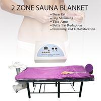 새로운 모델 2 Zone 전나무 사우나 원적외선 바디 슬리밍 사우나 담요 가열 치료 슬림 백 스파 바디 해독 기계