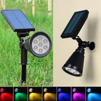 태양 스포트 라이트 잔디 홍수 빛 야외 정원 (7) LED 파티오 장식 YSY342-L 7 색 1 벽 램프 풍경 빛의 조절