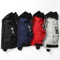 WANANSN Марка весной и осенью новый мужской сплошной цвет с капюшоном большого размера способа куртки Классические мужские Сыпучие Повседневная куртка 8XL