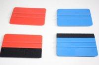 Двухсторонняя автомобиля Войлок пленки Wrap Ракель Винил Синий скреперные Инструменты автомобиля стикер Инструменты Авто Модификация Styling аксессуары Красный Синий
