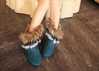 2019 sapatos QUENTES mulheres imitação de pele de raposa botas de neve Mid-Calf botas de inverno botas para as mulheres moda quente novo estilo 2015 novo. # DS099