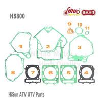 5 HISUN ATV Parçaları Tam Set Conta HS400 HS500 HS600 HS700 HS800 ATV UTV Gokart Quad Yedek motor parçaları Kalite Nihao Motorlu
