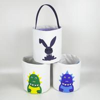 Кролик Пасхальная корзина Пасхальный кролик для хранения сумки яйцо конфеты Корзины холст пакетин сумки для печати сумка для вечеринки украшения 15 стиль Rra2675