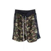 Mens-Sommer-Kurzschluss-Hosen Patrick Tarnungsband Mesh Shorts beiläufige Art und Weise Drawstring Laufhose Fitness High Street