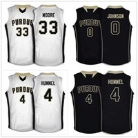 Purdue Boilermakers College Terone Johnson #0 Robbie Hummel #4 E'Twaun Moore #33 Retro Basketball Jersey Men's Stitched Custom Number Name