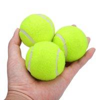 3pcs 전문 고무 테니스 공 높은 탄력성 내구성 테니스 연습 공 학교 클럽 경쟁 훈련 연습