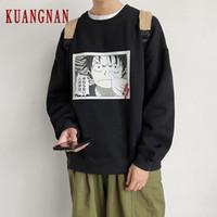 KUANGNAN Anime One Piece Sweatshirt Männer japanischen Street Harajuku Sweatshirts Männer Hip Hop Sweatshirt 5XL 2019 Herbst New